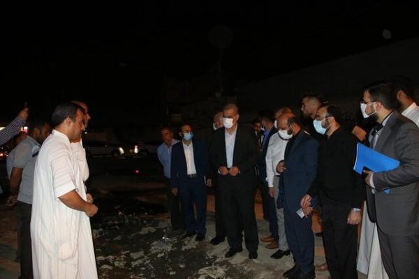 بازدید استاندار خوزستان از نقاط دچار پس زدگی فاضلاب در اهواز